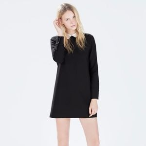 ZARA Shift Dress with Poplin Collar
